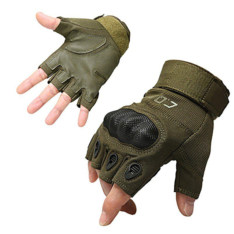 Online Men's Outdoor Tactics and Semi-full Finger O-slip Anti-slip Glove