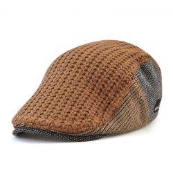 JAMON Men's British Style Autumn and Winter Knitted Wool Hat Warm Beret -