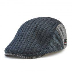 JAMONT Men's British Style Knitted Wool Hat Warm Beret for Autumn and Winter -