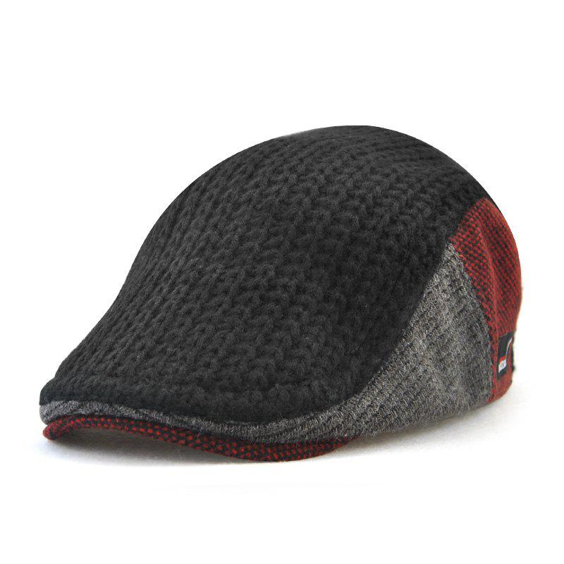 Fancy JAMON Men's British Style Autumn and Winter Knitted Wool Hat Warm Beret