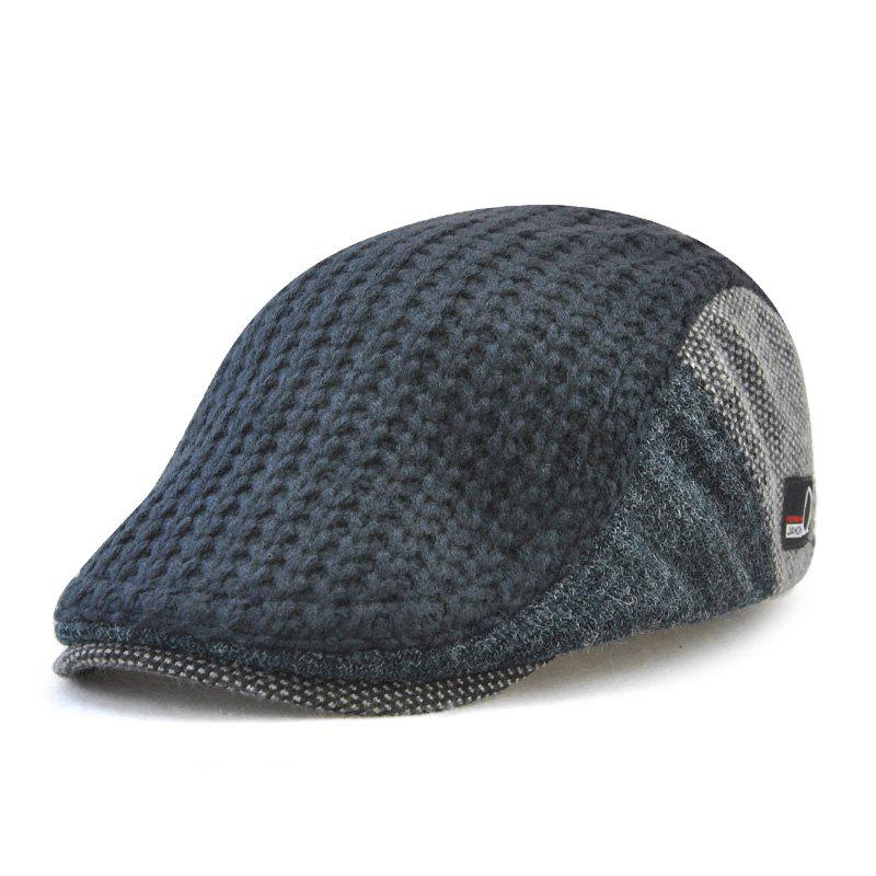 Trendy JAMONT Men's British Style Knitted Wool Hat Warm Beret for Autumn and Winter
