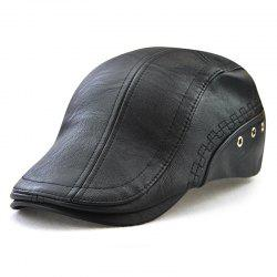JAMON Men's Fashion Perforated Embellishment with Personalized Versatile Cap -
