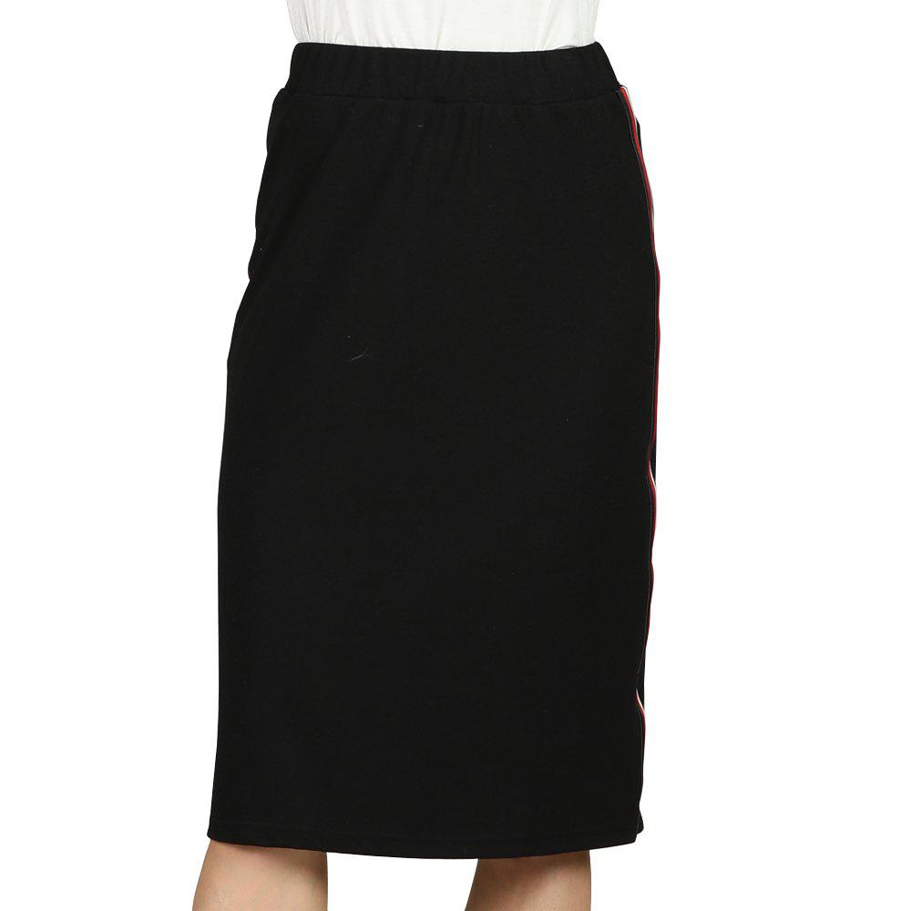 Online SBETRO Pencil Skirt Elastic Waist  Basic Officewear Ladies