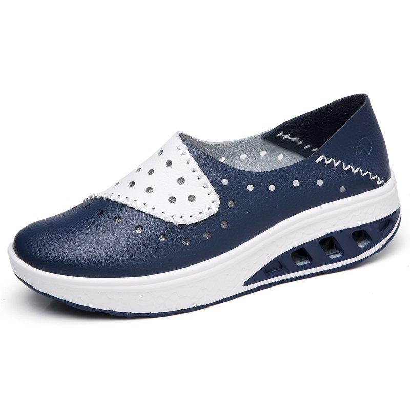 Fashion New Leather Fashionable and Breathable Cave Shoes and Casual Women'S Shoes