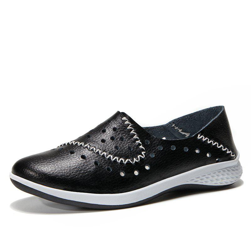Sale New Hollowed Out Comfortable Leather Shoes
