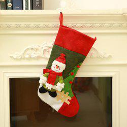 Snowman Santa Claus Pattern Hanging Decoration Christmas Sock -