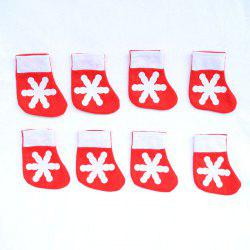 12Pcs Mini Christmas Socks Shape Knife And Fork Bags -