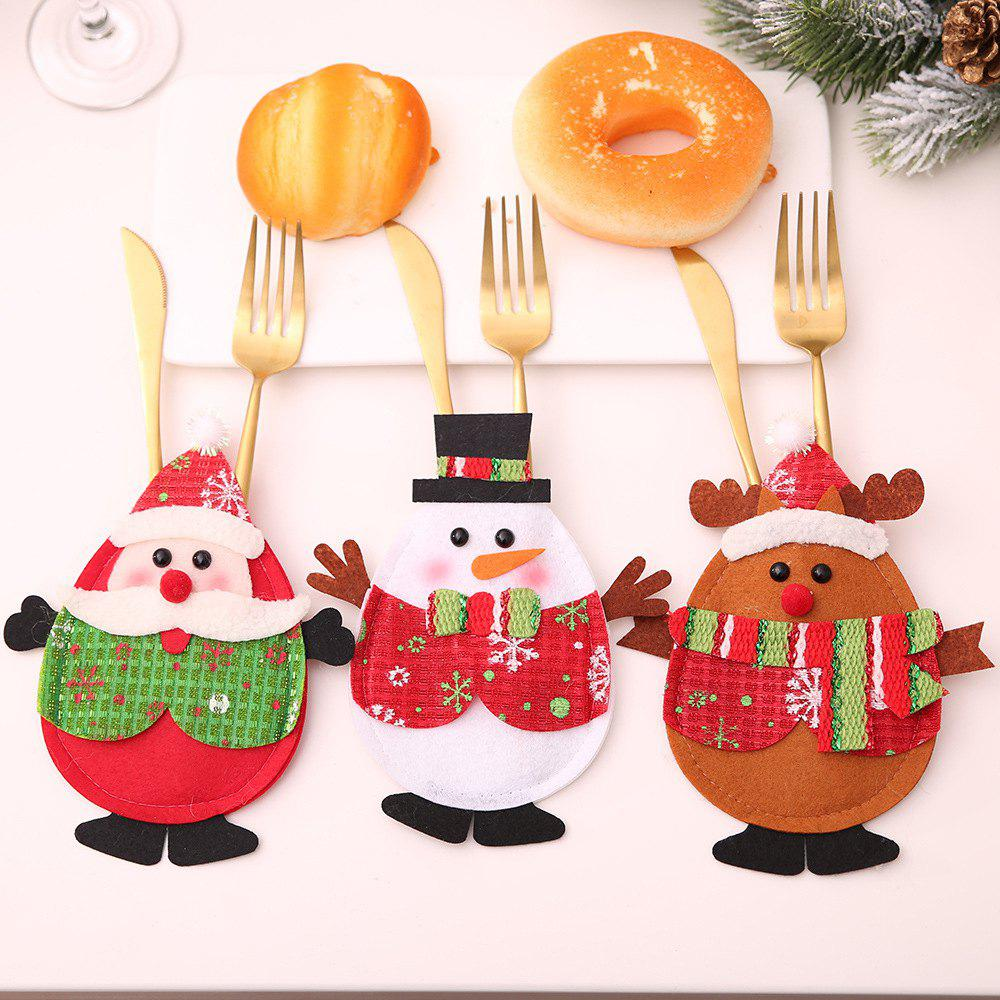 Best Christmas Style Cutlery Covers Lovely Tableware Holder 3PCS