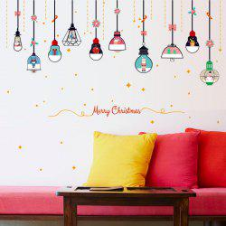 Christmas Chandelier PVC Wall Sticker -