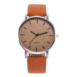 Neutral Grind Arenaceous Contracted Scale Quartz Watch -