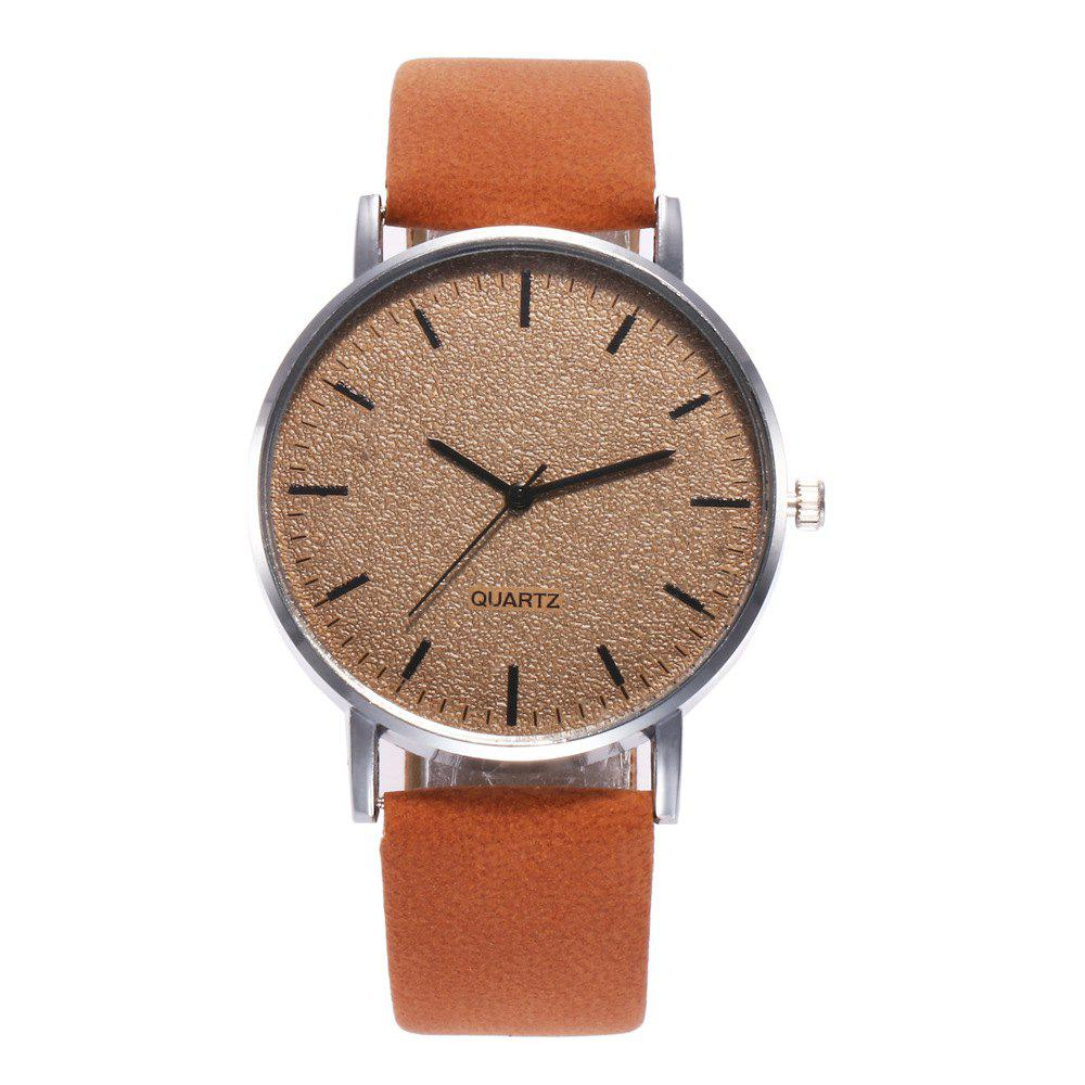 Chic Neutral Grind Arenaceous Contracted Scale Quartz Watch