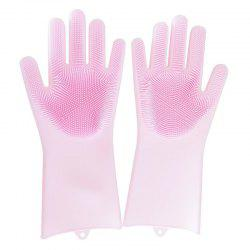 One Pair Silicone Washing Bowl Cleaning Gloves -