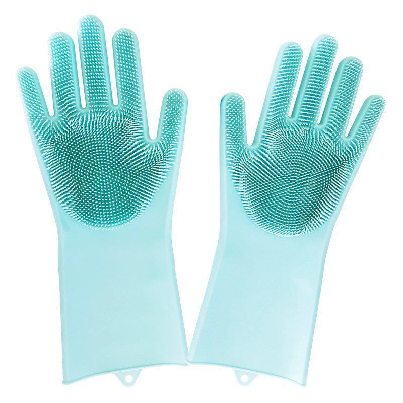 Cheap One Pair Silicone Washing Bowl Cleaning Gloves