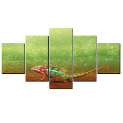 YISHIYUAN 5 Pcs HD Inkjet Paints Lizard Animal Decorative Painting -