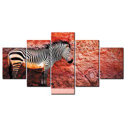 YISHIYUAN 5 Pcs HD Inkjet Paints Zebra Animal Decorative Painting -