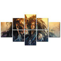 YISHIYUAN 8 Pcs HD Inkjet Paints Abstract Indian Horse Decorative Painting -