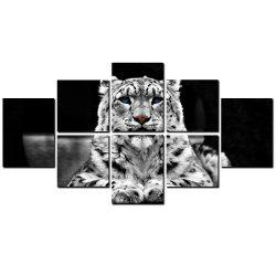 YISHIYUAN 8 Pcs HD Inkjet Paints Abstract Black White Tiger Decorative Painting -