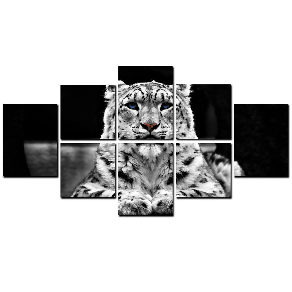 Outfit YISHIYUAN 8 Pcs HD Inkjet Paints Abstract Black White Tiger Decorative Painting