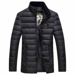 Autumn and Winter Men Straight Collar Cotton Jacket Jacket Jacket Large Size Men -