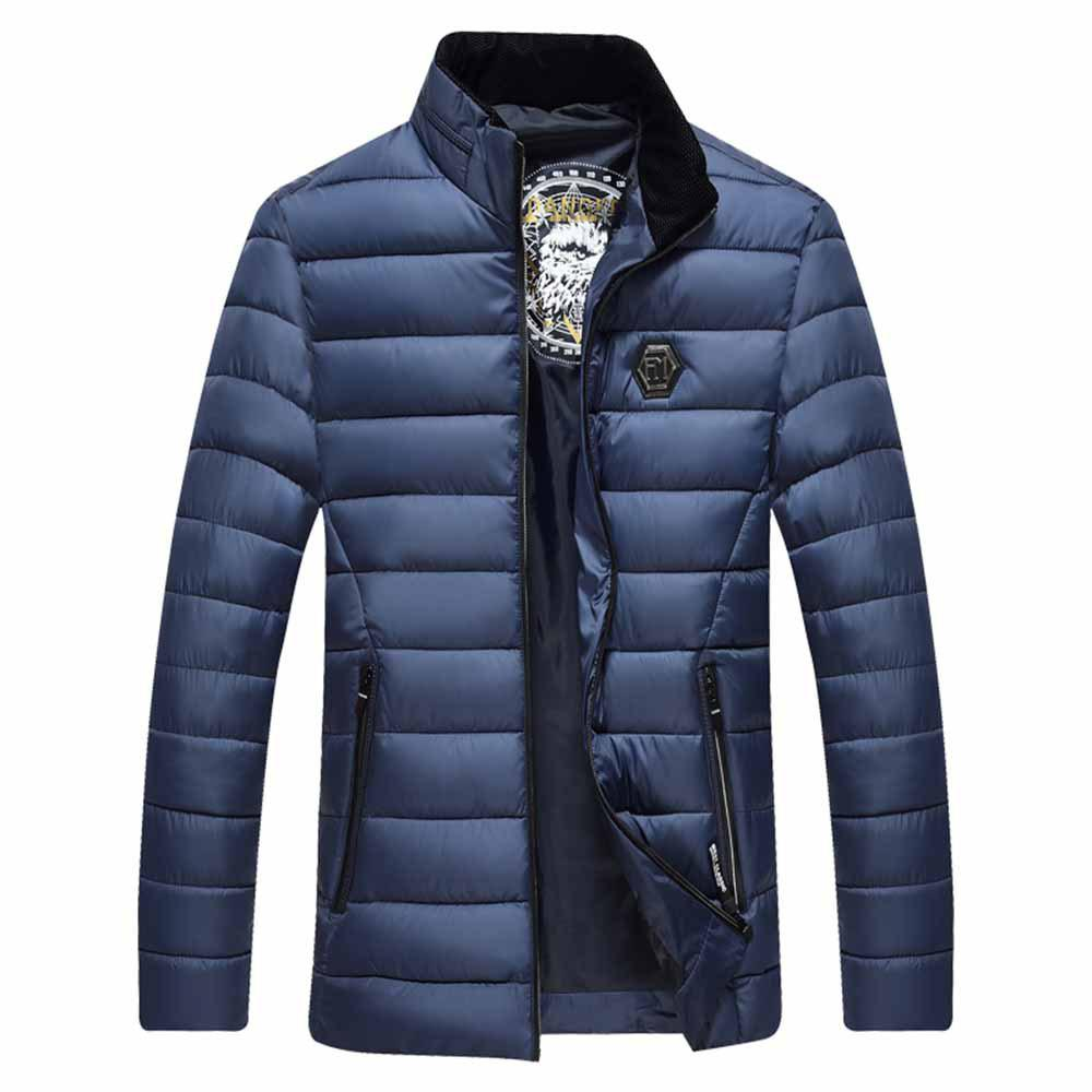 Outfits Autumn and Winter Men Straight Collar Cotton Jacket Jacket Jacket Large Size Men