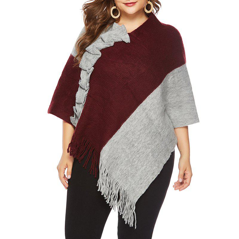 Online Autumn Big Suit Women'S Coloring Sweater Shawl