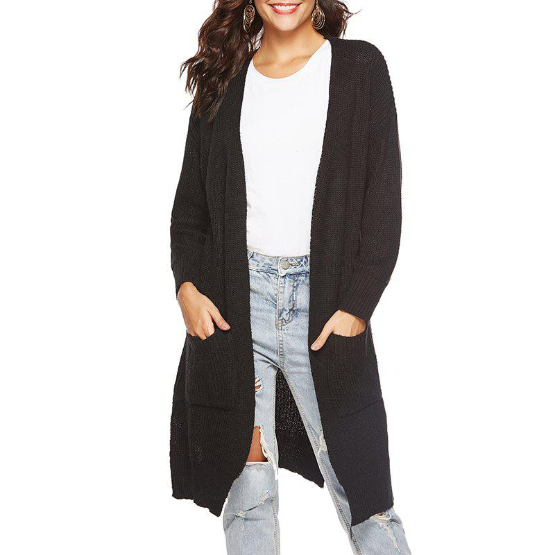 Hot Autumn Long Cardigan Split and Thickened Sweater Coat