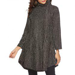 Mid Autumn High Necked Medium Length Thickened Sweater -