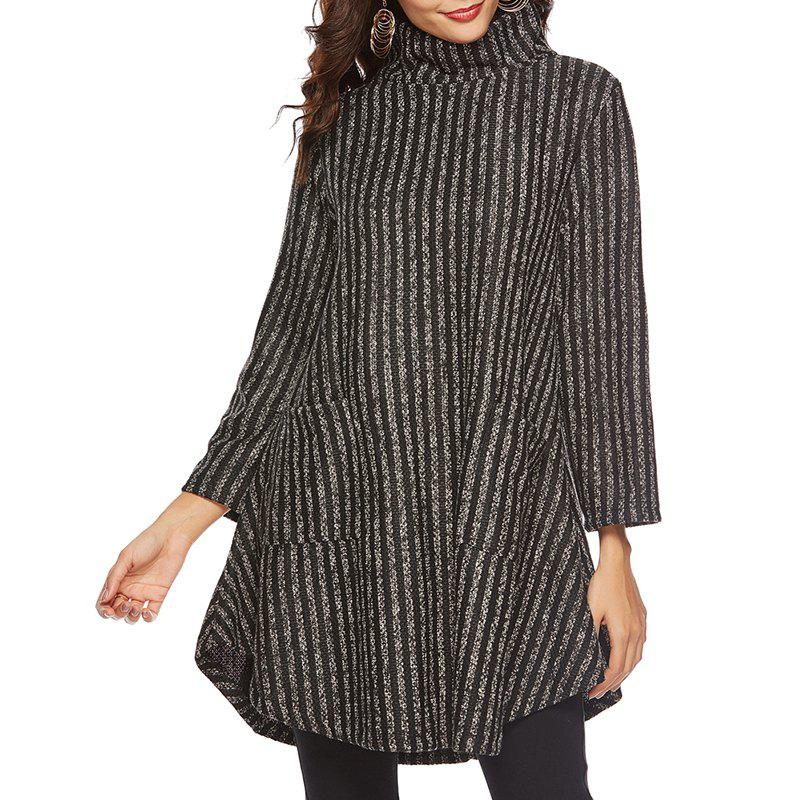 Outfits Mid Autumn High Necked Medium Length Thickened Sweater