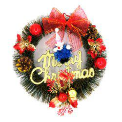 Christmas Decoration Gifts Iron Ring Gift Wreath Christmas Tree Accessories -