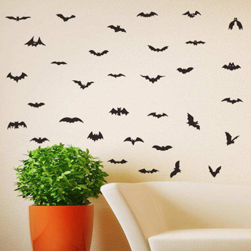 Affordable Personality Creative New Halloween HALLOWEEN Bat Combination Wall Stickers