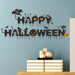 New Halloween HALLOWEEN Crows Devils Combination Wall Stickers -