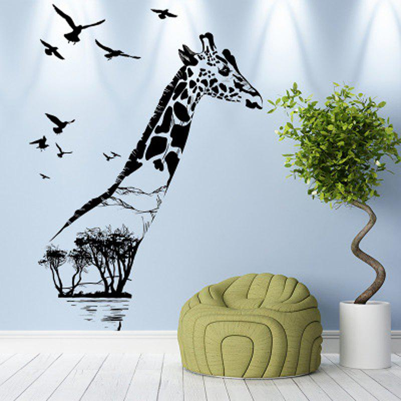 Affordable The Giraffe Wall Stickers Wall Stickers Environmental Protection Can Be Removed