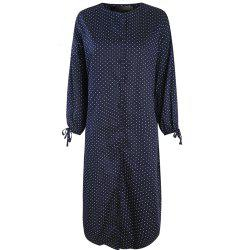 HAODUOYI Women's Lzay Dot Sleeve Tie Dress Multicolor -