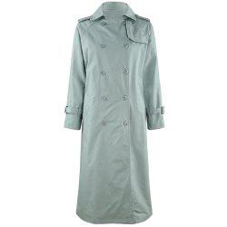 HAODUOYI Women'S Commuter Temperament Slim Long Trench Coat Green -