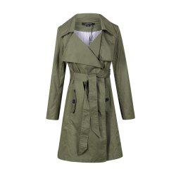 HAODUOYI Women's Europe and America Fashion Style Military Green -