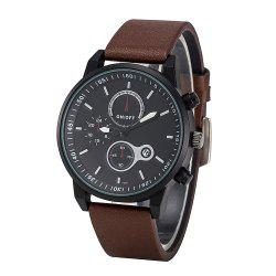 FEIFAN Brand Sports Watches Resistant Men Date Watch Military Leather Di -