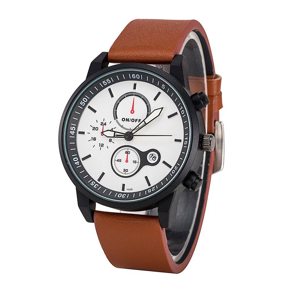 Fancy FEIFAN Brand Sports Watches Resistant Men Date Watch Military Leather Di