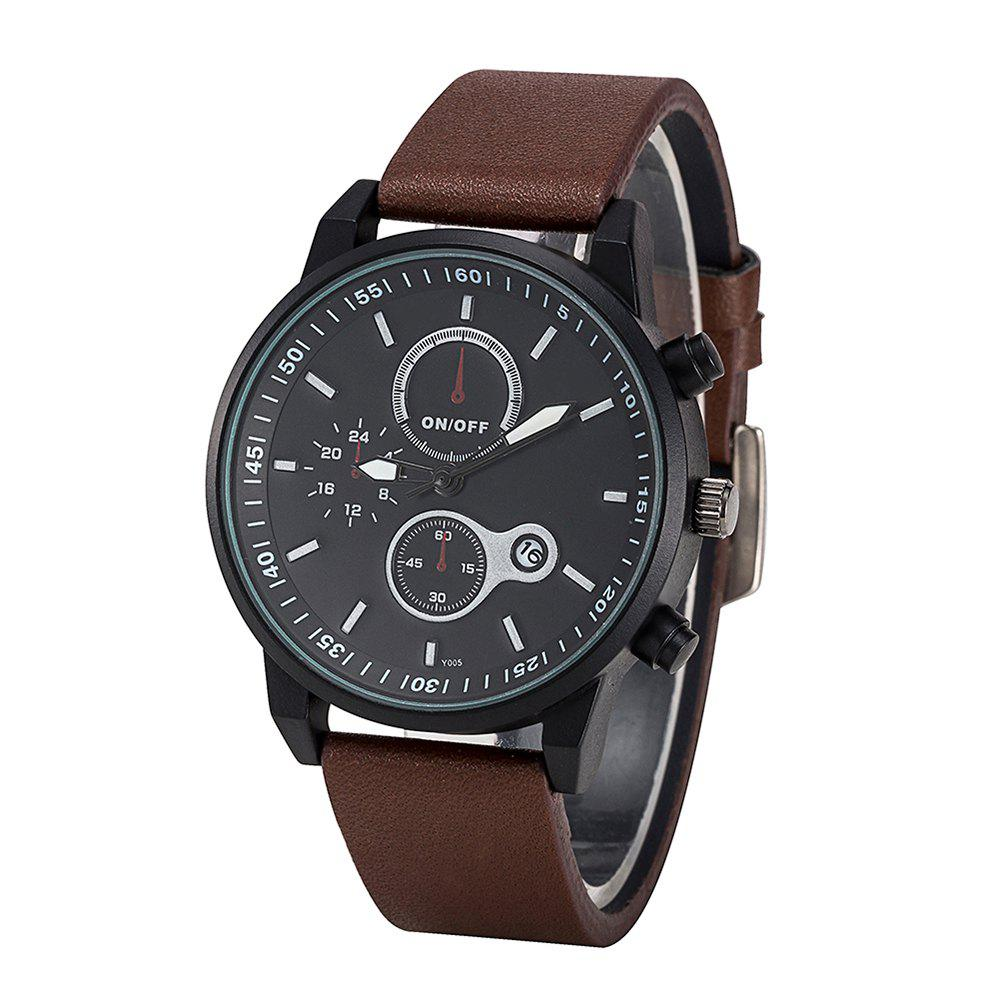Trendy FEIFAN Brand Sports Watches Resistant Men Date Watch Military Leather Di