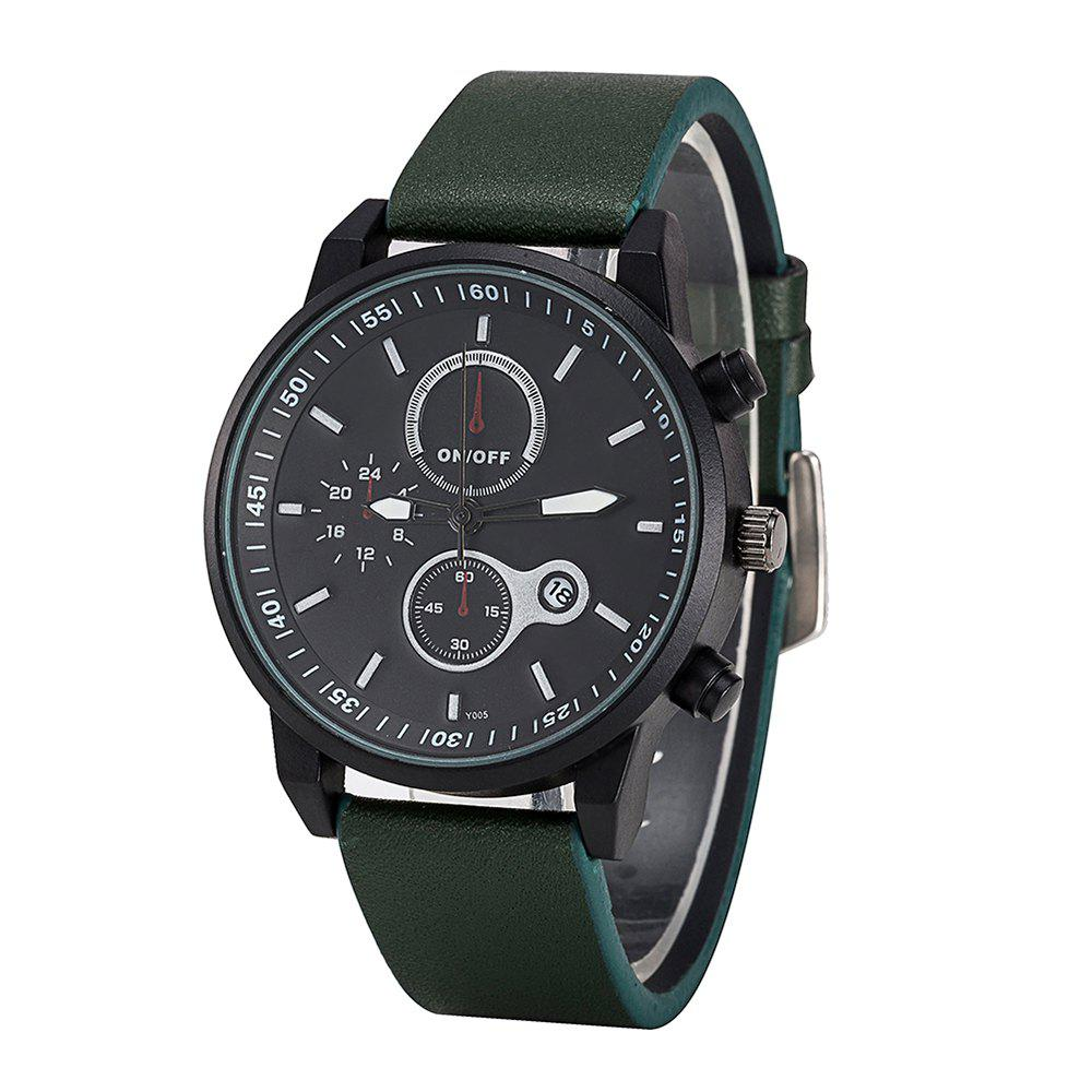 Affordable FEIFAN Brand Sports Watches Resistant Men Date Watch Military Leather Di