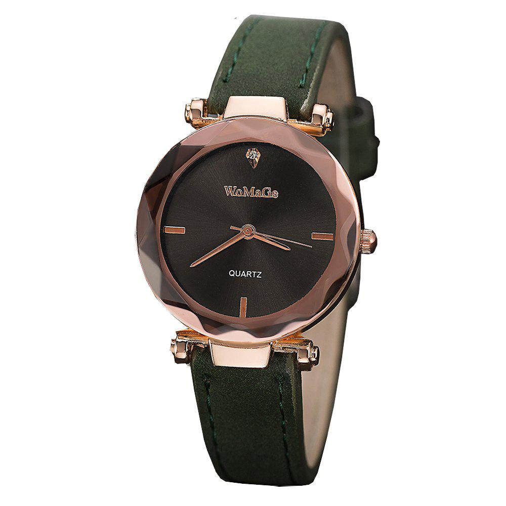 Outfit WoMaGe/WMG070/Women'S Fashion Leather Wristwatches Smart Simple Decorate Clock