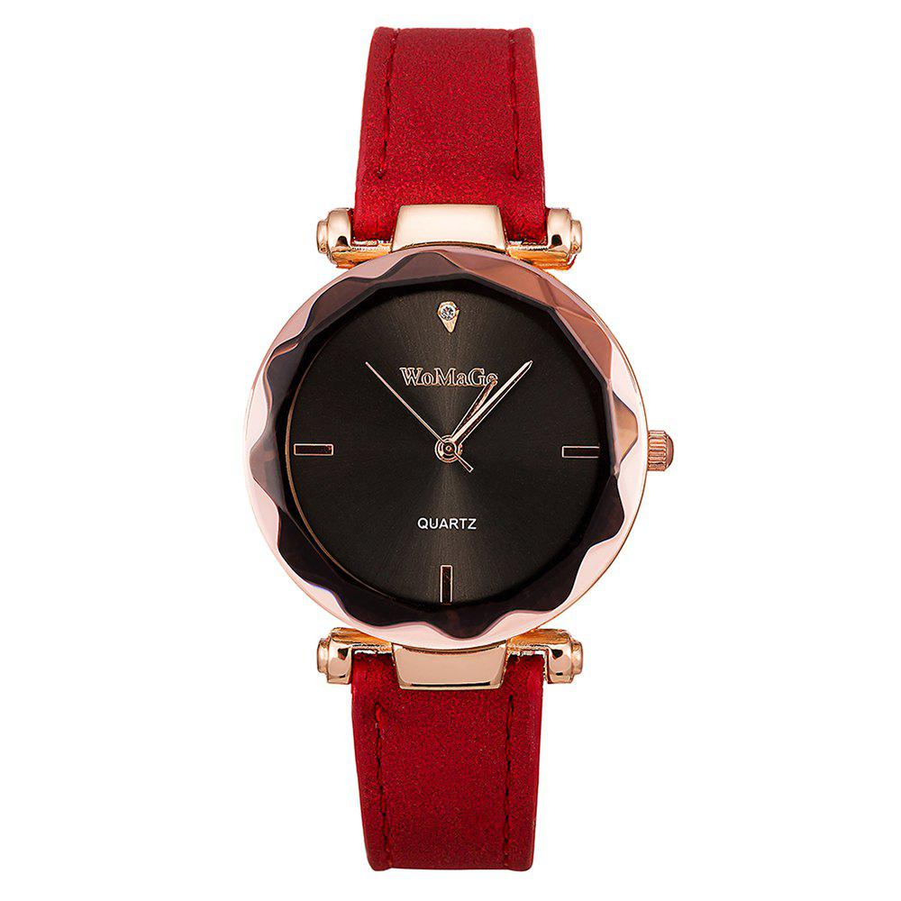 Fancy WoMaGe/WMG070/Women'S Fashion Leather Wristwatches Smart Simple Decorate Clock
