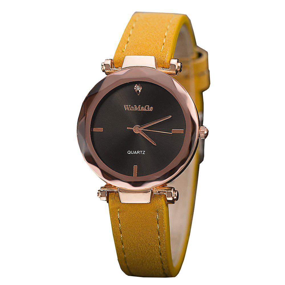 Trendy WoMaGe/WMG070/Women'S Fashion Leather Wristwatches Smart Simple Decorate Clock