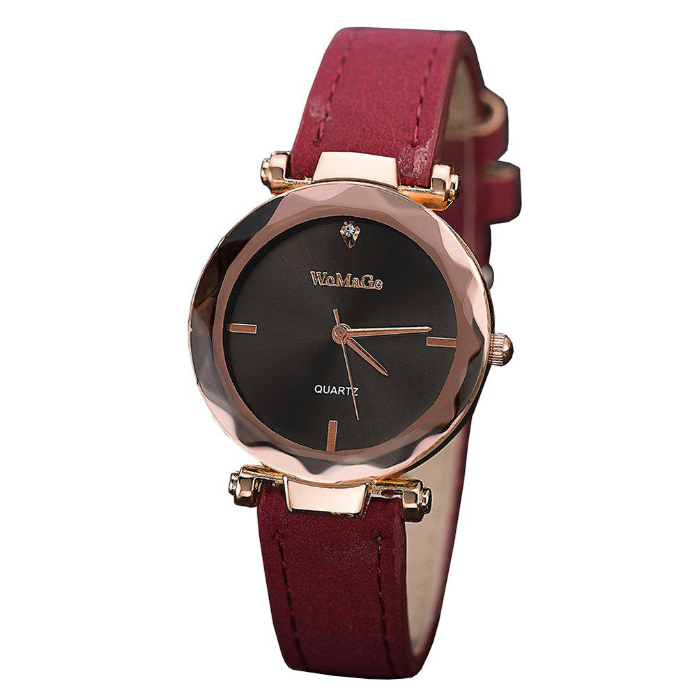 Online WoMaGe/WMG070/Women'S Fashion Leather Wristwatches Smart Simple Decorate Clock