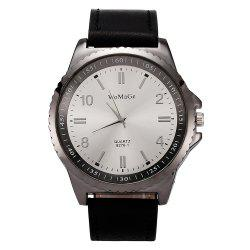 Womage/WMG065/Men Watches 2018 Casual Brand Leather Strap Big Case -