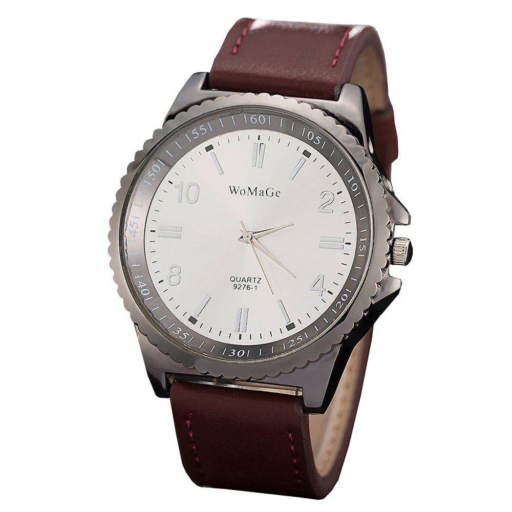 Online Womage/WMG065/Men Watches 2018 Casual Brand Leather Strap Big Case