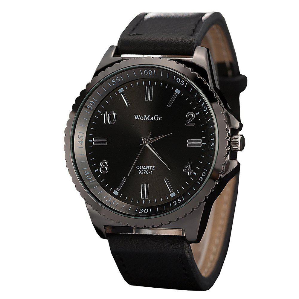 Outfit Womage/WMG065/Men Watches 2018 Casual Brand Leather Strap Big Case