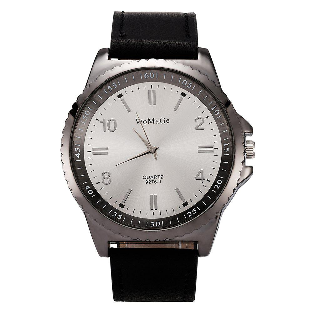 Unique Womage/WMG065/Men Watches 2018 Casual Brand Leather Strap Big Case