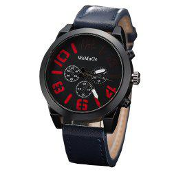 WoMaGe/WMG066Men Watches 2018 Casual Leather Big Face Popular Wristwatches -