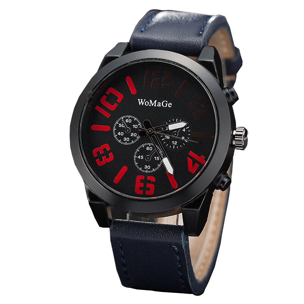 Buy WoMaGe/WMG066Men Watches 2018 Casual Leather Big Face Popular Wristwatches