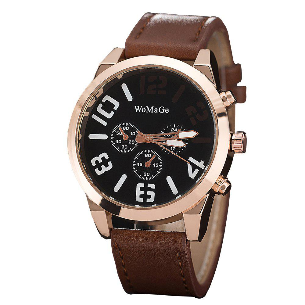 Best WoMaGe/WMG066Men Watches 2018 Casual Leather Big Face Popular Wristwatches